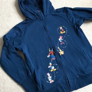 DISNEY HOODED ZIPUP SMALL